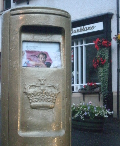 Dunblane-Gold-Post-Box