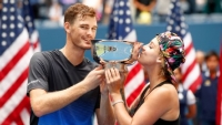 Jamie US Open Mixed Doubles champion again