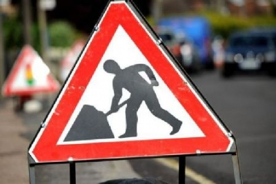 Road Works in August in Dunblane