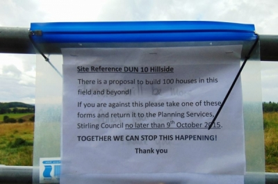 Plans for 129 houses at Hillside near the Keir roundabout in Dunblane have been rejected on appeal