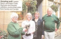 Dunblane in Bloom Awards to Local Businesses 2017
