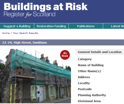 Building in High Street declared a 'Building at Risk'