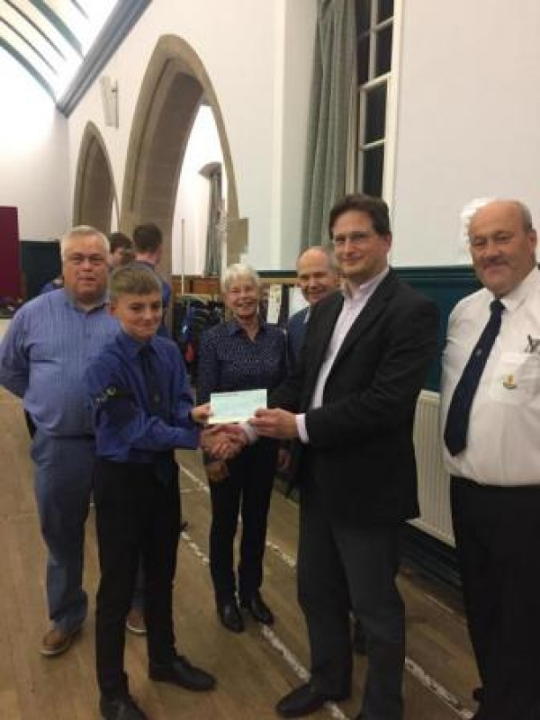 Dunblane BB receives generous donation from Fling Committee