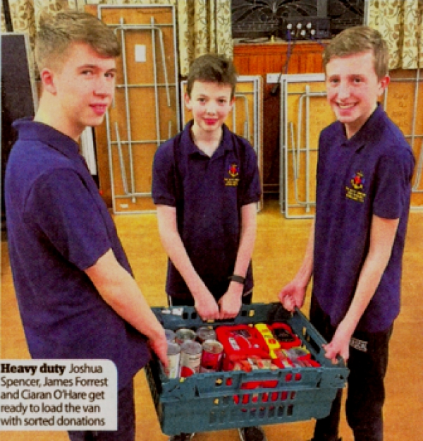 Dunblane BB collects for Start Up's Foodbank