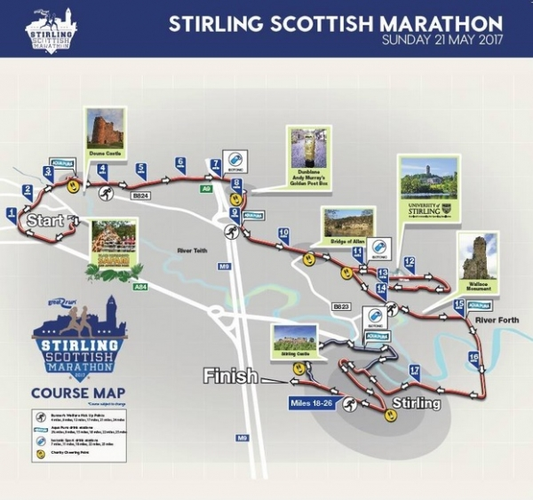 Stirling Marathon to come through Dunblane on Sunday 21 May