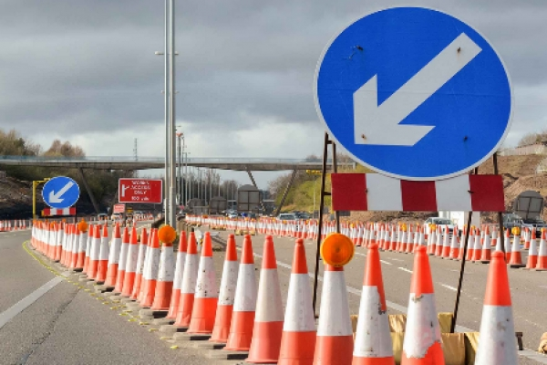 Partial Closure of A9 from January 14 will affect the Town!