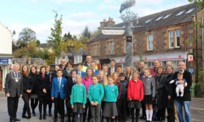 Schools assist transformation of Dunblane town centre
