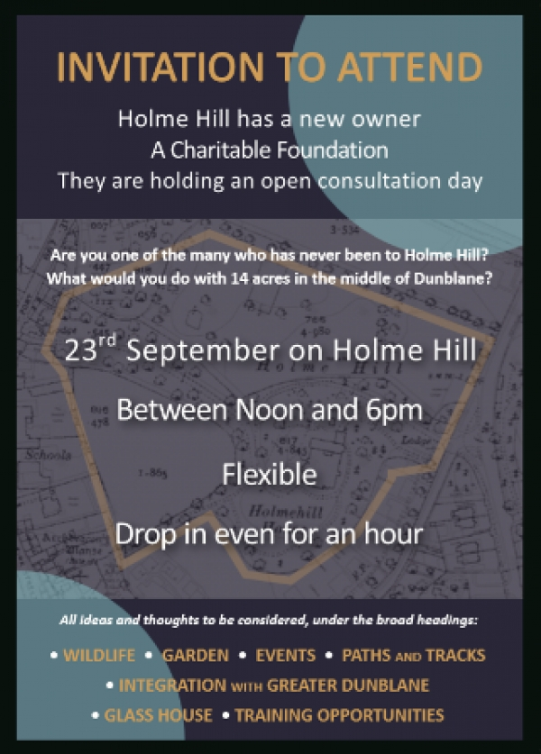 Holmehill's new owner consults the community on 23 September