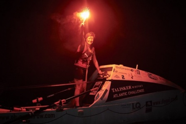 Dunblane rower Elaine has rowed Atlantic!